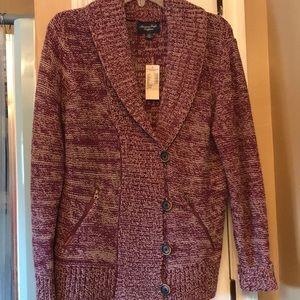 American Eagle Sweater Cardigan Purple Large NWT